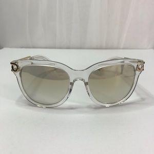 CHLOE Grey Gradient Geometric Ladies Sunglasses